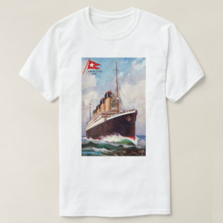 Titanic White Star Line Painting T-Shirt