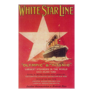 Titanic White Star Line Poster