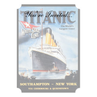 Titanic White Star Line Poster 5x7 Paper Invitation Card