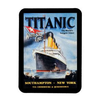 Titanic White Star Line Poster Rectangular Photo Magnet