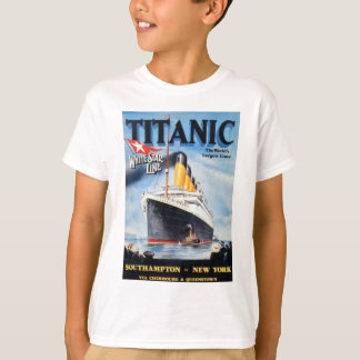 Titanic White Star Line Poster T-Shirt