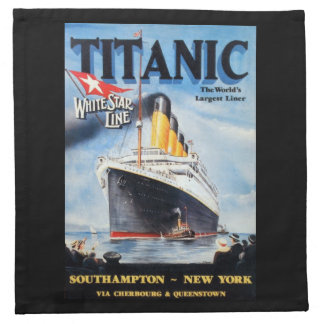 Titanic White Star Line - World's Largest Liner Napkin