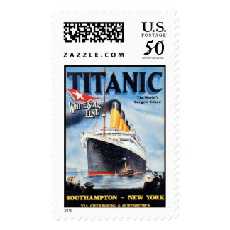 Titanic White Star Line - World's Largest Liner Postage