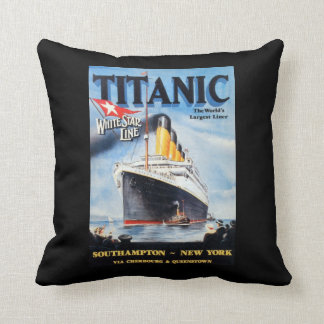 Titanic White Star Line - World's Largest Liner Throw Pillow