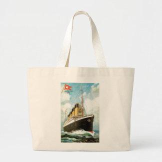 Titánico en el mar bolsa lienzo