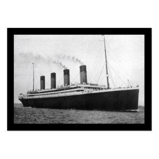 Titánico en el mar tarjeta personal