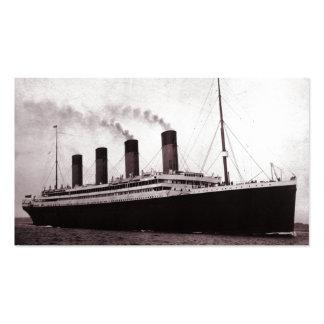 Titánico en el mar tarjetas de visita