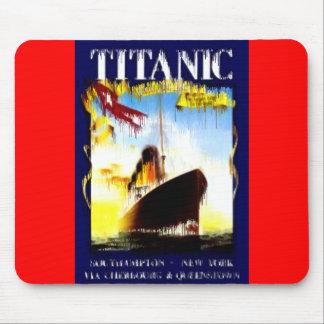 Titánico era un trazador de líneas de pasajero del tapete de raton