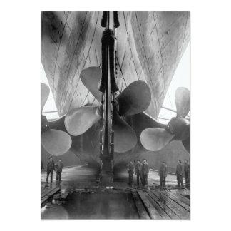 Titanic's propellers 5x7 paper invitation card