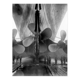 Titanic's propellers postcard