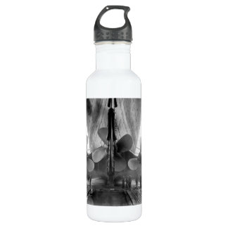 Titanic's propellers stainless steel water bottle