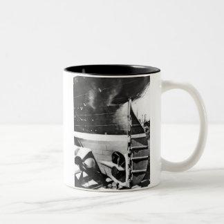 Titanic's Rudder Two-Tone Coffee Mug