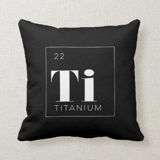Titanio de //de la almohada de los elementos de