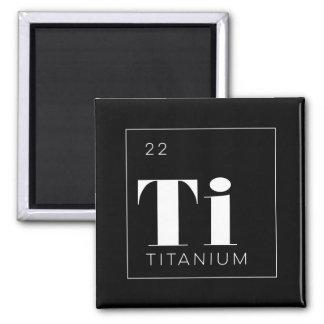 Titanio de //del botón de los elementos de tabla imán cuadrado