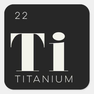 Titanio de //del pegatina de los elementos de