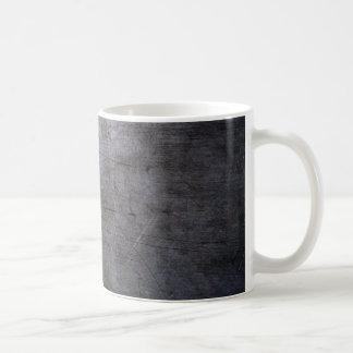 Titanio rasguñado taza básica blanca