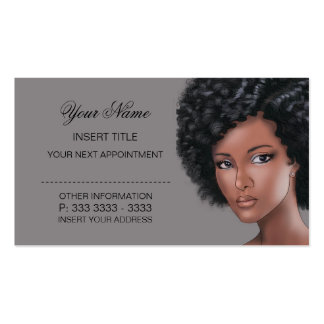 Titanium - Beauty Appointment Business Card