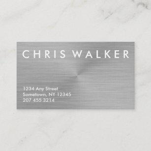 Metal texture business cards zazzle titanium brushed metal texture business cards colourmoves