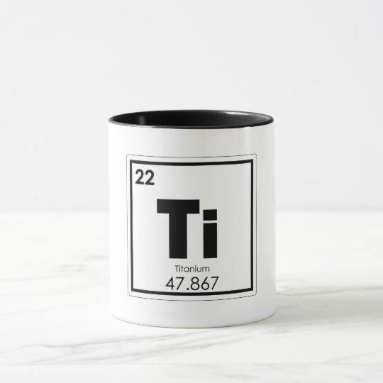 Titanium Chemical Element Symbol Chemistry Formula Mug Zazzle