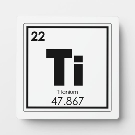Titanium Chemical Element Symbol Chemistry Formula Plaque Zazzle