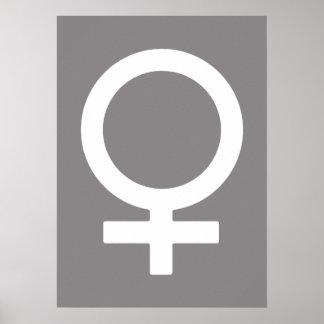 Titanium Female Symbol Poster