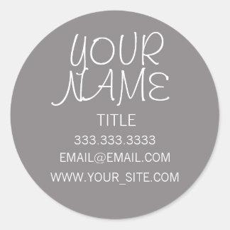 Titanium Freehand Simple Classic Round Sticker