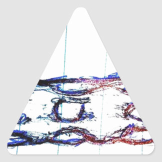 Titanium Graphene Coated, Diamond Doped Drill Triangle Sticker