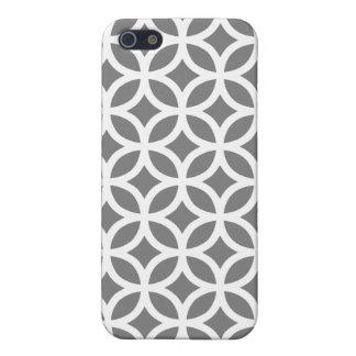 Titanium Gray Geometric iPhone 5 5S Case