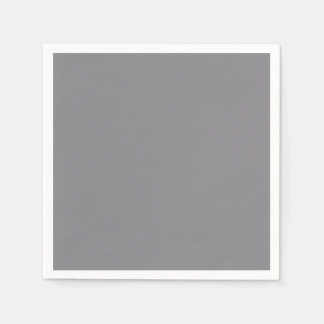 Titanium Gray Grey Color Trend Background Paper Napkin