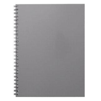 Titanium Gray Grey Color Trend Background Spiral Notebook