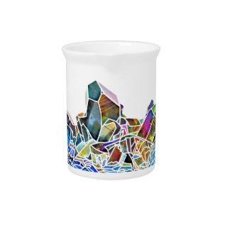 Titanium Quartz Healing Crystal Art Rainbow Aura Pitcher at Zazzle