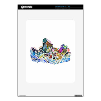 Titanium Quartz Healing Crystal Art Rainbow Aura Skins For The iPad