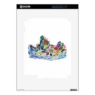 Titanium Quartz Healing Crystal Art Rainbow Aura Skins For The iPad 2