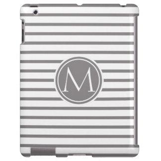 Titanium Thin Stripes Pattern and Monogram