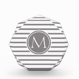 Titanium Thin Stripes Pattern and Monogram Award