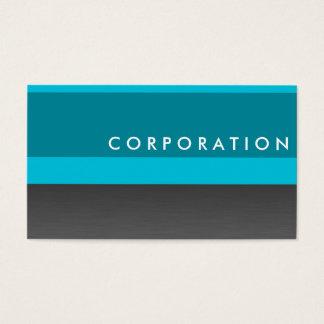 Titanium & turquoise professional business card