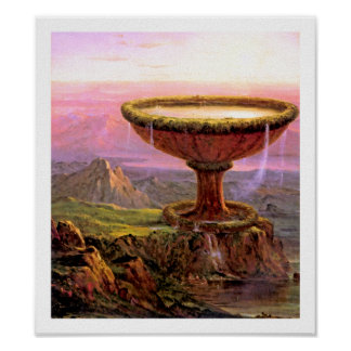 Titan's Goblet by Thomas Cole Poster