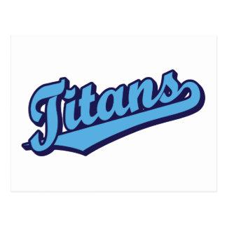 Titans in Custom Light Blue Postcard