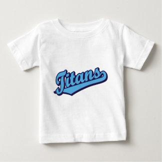 Titans in Custom Light Blue T-shirts