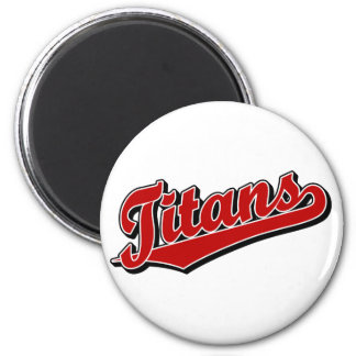 Titans in Red 2 Inch Round Magnet