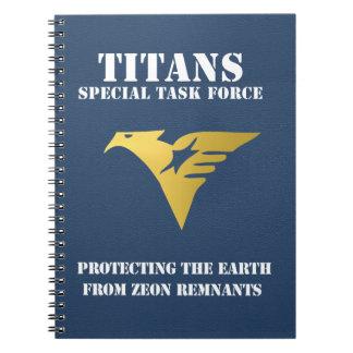 Titans  - Notebook (Navy)