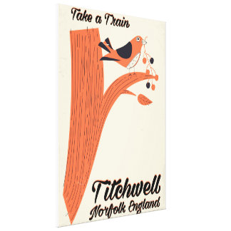 Titchwell Norfolk Beach travel poster Canvas Print