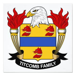 Titcomb Family Crest Card