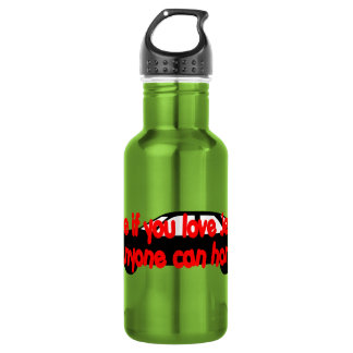 Tithe if you love Jesus...Anyone can honk! 18oz Water Bottle