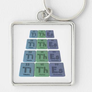 Tithes-Ti-Th-Es-Titanium-Thorium-Einsteinium.png Keychain