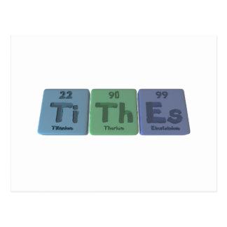 Tithes-Ti-Th-Es-Titanium-Thorium-Einsteinium.png Postcard