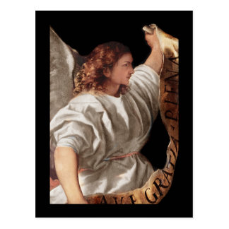 Titian Angel with  Banner Postcard