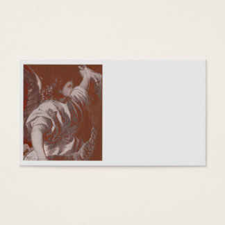 Titian Annunciation Angel with a Banner Business Card