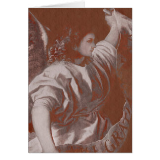 Titian Annunciation Angel with Banner Card