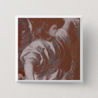 Titian Annunciation Angel with Banner Pinback Button